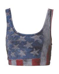 TOPSHOP Blue American Flag Bralet