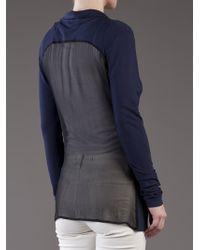 Unconditional - Blue Chiffon Back Jacket - Lyst