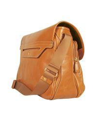 Bric's Brown Life Leather Messenger Bag