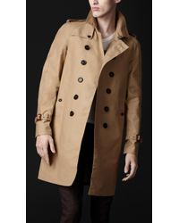 Burberry Prorsum Natural Seam Sealed Cotton Trench Coat for men