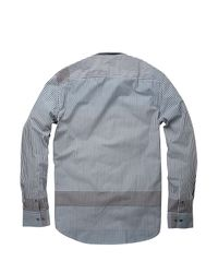 French Connection Blue Burrell Engineered Shirt for men