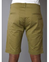 Garbstore Green Five Jet Chino Shorts for men