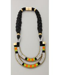Holst + Lee - Metallic Double Tiered Necklace - Lyst