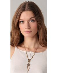 House of Harlow 1960 - Metallic Small Geometric Drop Necklace - Lyst