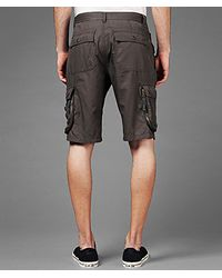 John Varvatos Gray Cargo Short for men