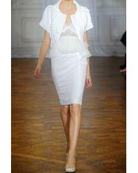Nina Ricci - White Floral Cloqué Pencil Skirt - Lyst