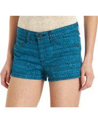 Rag & Bone Tweed Print Biba Short Blue