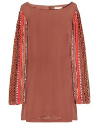 Sass & Bide | Red The Special Issue Silk-crepe Shift Dress | Lyst