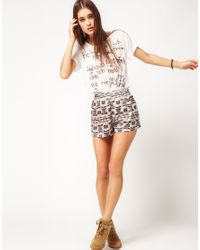 Surface To Air Multicolor Surface To Air Track Shorts Aztec Print