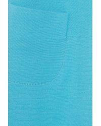 Victoria Beckham Blue Silk and Woolblend Crepe Dress