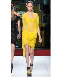 Helmut Lang   Yellow Twist Front Skirt   Lyst