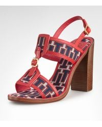 Tory Burch | Red Florian High Heel Sandal | Lyst