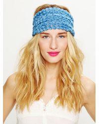Free People   Blue Tatty Floral Gauze Headwrap   Lyst