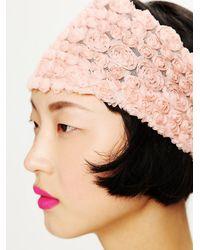 Free People - Pink Tatty Floral Gauze Headwrap - Lyst