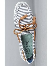 Sperry Top-Sider - Blue Authentic 2 Eye - Navy Seersucker Boat Shoe - Lyst
