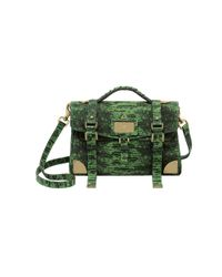 Mulberry Grass Green Lizard Print Leather Travel Day Bag