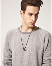 Cheap Monday | Black Geometry Necklace Exclusive To Asos for Men | Lyst