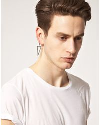 Cheap Monday - Metallic Geometry Earring Exclusive To Asos for Men - Lyst