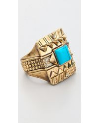 House of Harlow 1960 - Blue Cushion Cocktail Ring - Lyst