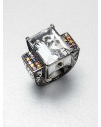 M.c.l  Matthew Campbell Laurenza | Metallic Multicolored Sapphire Accented White Topaz Ring | Lyst