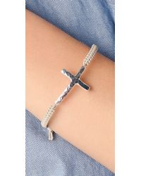 Tai - Metallic Cross Charm Bracelet - Lyst