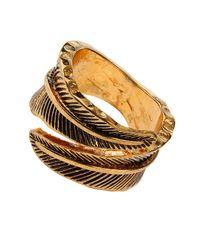 TOPSHOP - Metallic Leaf Band Ring - Lyst