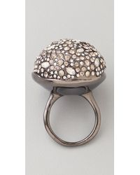 Alexis Bittar Metallic Crystal Sphere Ring