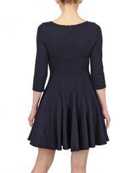 Issa - Blue Wool Skater Dress - Lyst