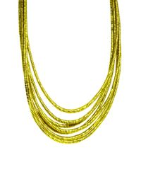 ASOS | Yellow Silk Wrap Necklace | Lyst