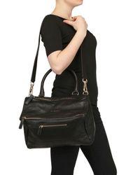 Givenchy Black Medium Shiny Pandora Messenger