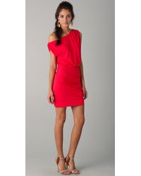 Halston | Red Off The Shoulder Dress | Lyst