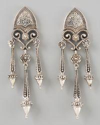 Konstantino - Metallic Sterling Silver Shield Drop Earrings - Lyst