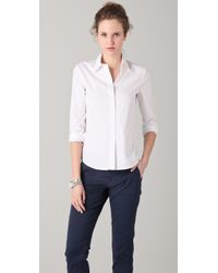 Theory | White Larissa Shirt | Lyst