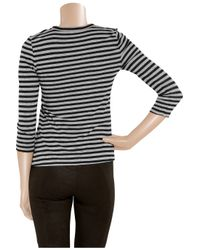 A.L.C. Black Striped Cotton-jersey T-shirt