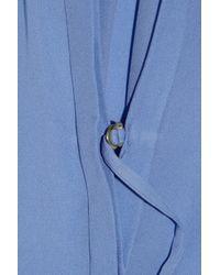 A.L.C. Blue Arissa Washed Silk-georgette Blouse
