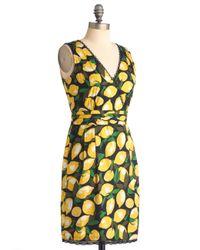ModCloth | Yellow Lemon Amie Dress | Lyst