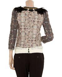 Isabel Marant | Black July Featherembellished Cotton Jacket | Lyst