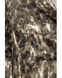 J.Crew Multicolor Talia Leopard-print Silk-blend Lamé Top