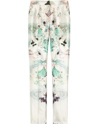 Prabal Gurung | Multicolor Printed Wool And Silk Blend Straight Leg Pants | Lyst