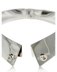 Delfina Delettrez - Metallic Button Down Silver Collar Necklace - Lyst