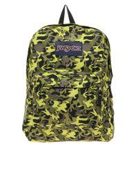 Jansport - Green Superbreak Backpack with Camo Print for Men - Lyst