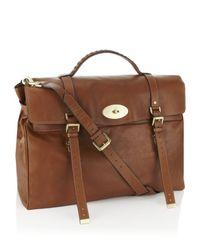 Mulberry Brown Postmans Lock Travel Bag for men