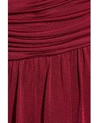 Temperley London Red Jackelyne Draped Silk Dress