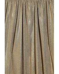 Tibi - Metallic Jersey Long Halter Dress - Lyst