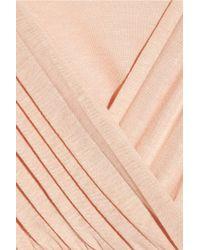 Tibi | Pink Draped Jersey Playsuit | Lyst