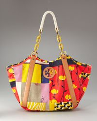 Tory Burch - Multicolor Karlya Printed Carry-all Tote - Lyst