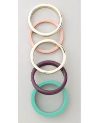 By Malene Birger | Green Color Repetition Cirkella Bracelets | Lyst