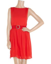 Alice + Olivia - Red Grace Blouson Dress - Lyst