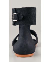 Cheap Monday - Black Saviour Sinaii Flat Sandals - Lyst
