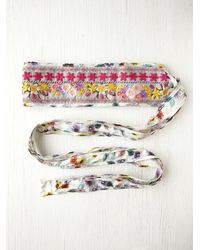 Free People | White Floral Galore Obi Belt | Lyst